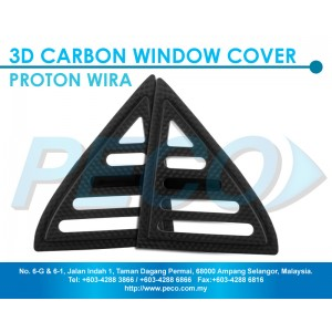3D Carbon Window Protector for Proton Wira