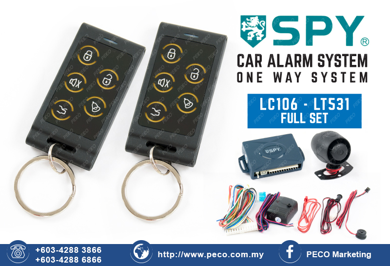 One Way Auto >> Spy Auto Security Car Alarm System One Way System Lc106